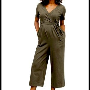 LIKE NEW BoobDesign Amelia Jumpsuit olive leaf